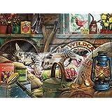 Buffalo Games Rompecabezas de 750 Piezas de de la colección Cats de Laid-Back Tom