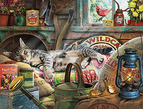 (Buffalo Games - Cats Collection - Laid-Back Tom - 750 Piece Jigsaw Puzzle)