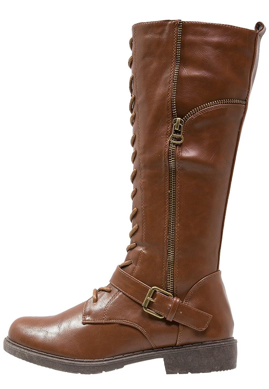 Stiefelparadies Damen Stiefel Worker Boots Profilsohle Schnürstiefel 152560 Braun Bernice 37 Flandell Xx6009E