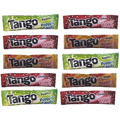 10 x Tango Popping Candy Sachets - Cherry, Orange & Apple Flavours