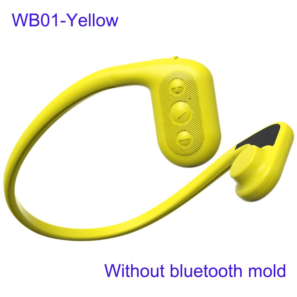 Tayogo Force Conduction Waterproof Headset mp3/FM that uses bone conduction (YELLOW)