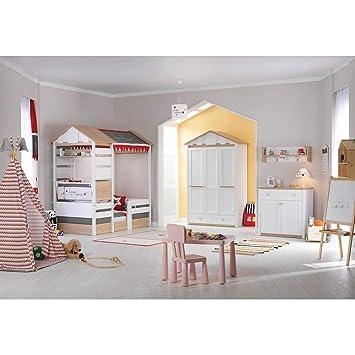 Möbel Komplettset Kinderzimmer Jugendzimmer Hausbett Kinderbett