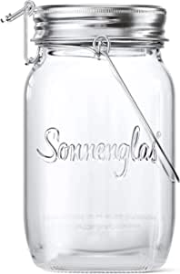 SONNENGLAS Classic 1000ml | Original Award-Winning Solar Lantern | Indoor and Outdoor | With USB Charging l Glass and Stainless Steel | Decorate Inside | Fair Trade from South Africa
