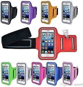 Brazalete para teléfono móvil, brazalete deportivo impermeable para teléfono Apple, estuche para teléfono móvil para correr, hacer ejercicio, gimnasio, fitness y deportes (4.9-5.7 pulgadas) (red): Amazon.es: Electrónica