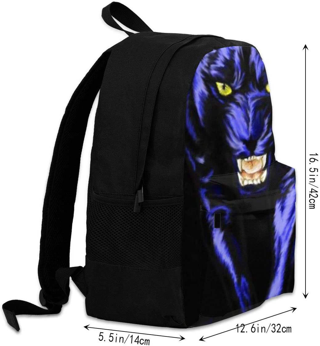 Panther Leopard Animal Casual Backpack Waterproof Laptop Backpack for Men Women Daypack