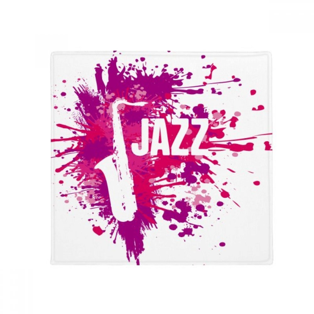 DIYthinker Sax Jazz Music Culture Pattern Anti-Slip Floor Pet Mat Square Home Kitchen Door 80Cm Gift