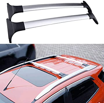 Black ROOF RACK CROSSBARS FOR FORD ECOSPORT w//FACTORY SIDE RAILS 2014 2015 2016 2017 2018 Luggage Roof Rack Rail Cross Bars