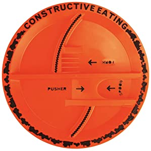 Constructive Eating Construction Plate for Toddlers, Infants, Babies and Kids - Flatware Toys are Made with FDA Approved Materials for Safe and Fun Eating