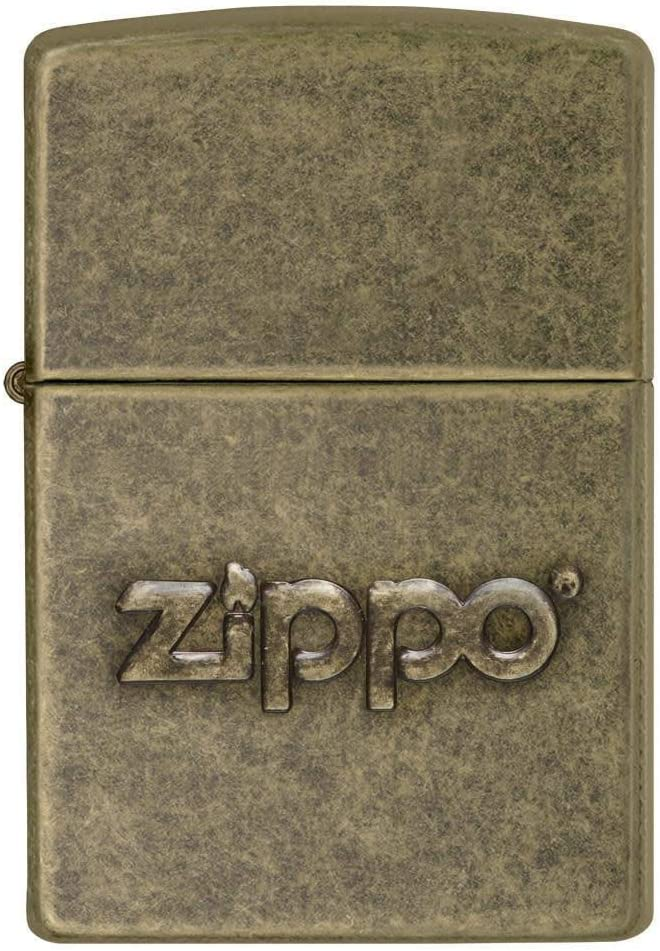 Zippo Encendedor Regular - latón Antiguo Sello: Amazon.es: Deportes y aire libre