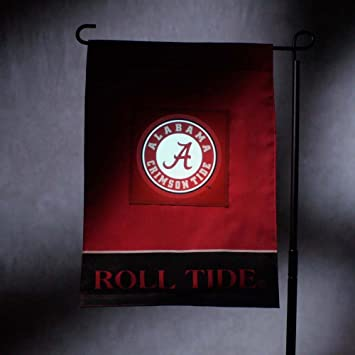 Amazoncom NCAA Alabama Crimson Tide Light Up Garden Flag
