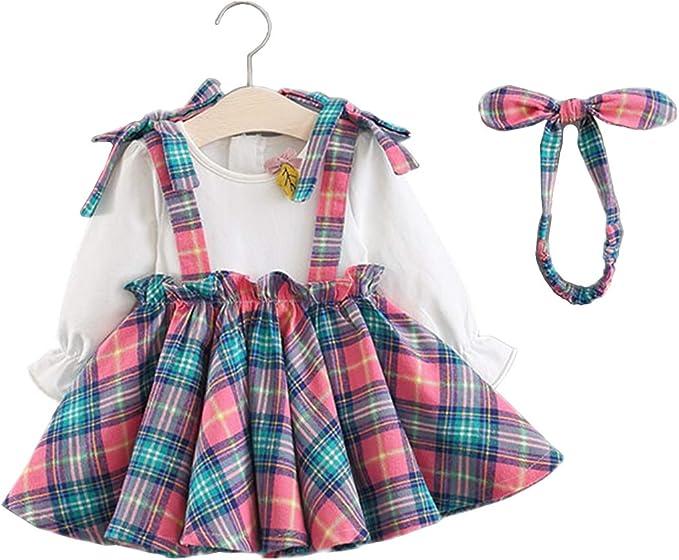 Vestidos de Bebé Niñas, Allskid Otoño Manga Larga Blusa Puntadas ...