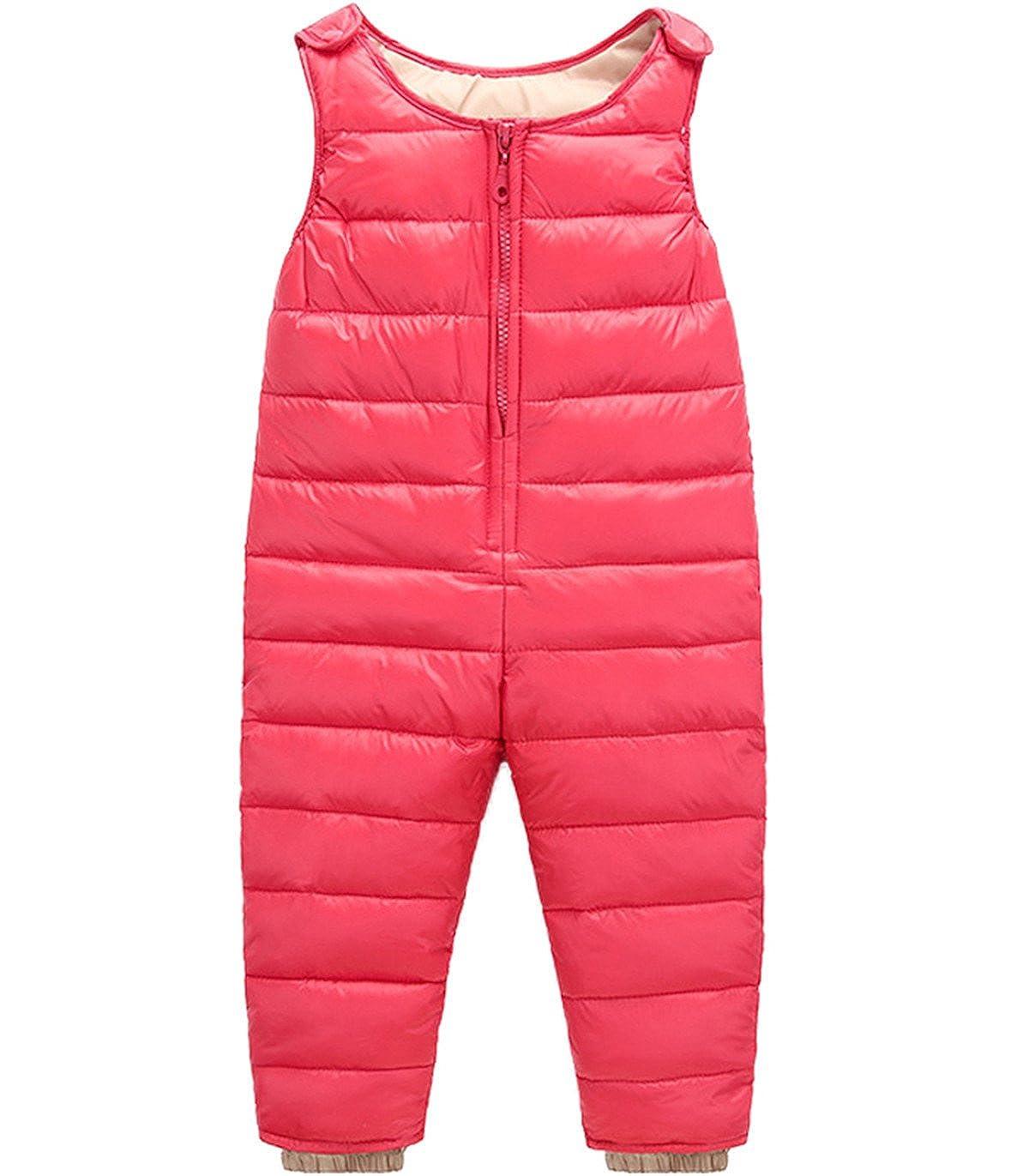 Baby Girls Boys One Piece Sleeveless Snowsuit Romper Winter Warm Puffer Jacket Outwear Jumpsuit