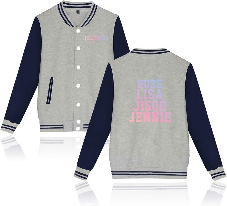 CHAIRAY Kpop Blackpink Baseball Jersey Rose Lisa Jennie Stand-up Collar Jacket