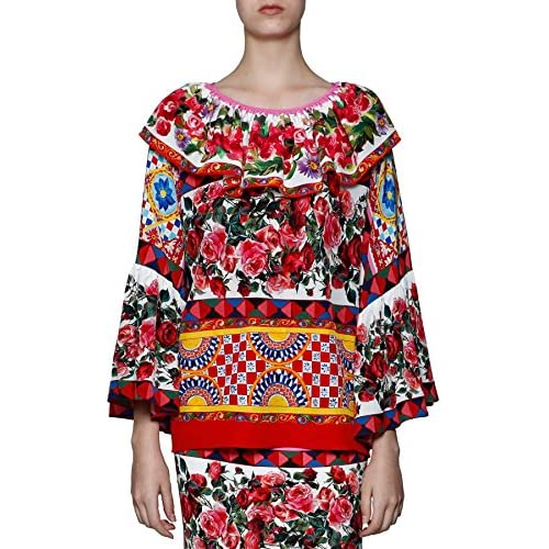 durable modeling Dolce E Gabbana Mujer F7Z71TGDD00HW680 Multicolor Seda  Blouse 598e6855eb1a