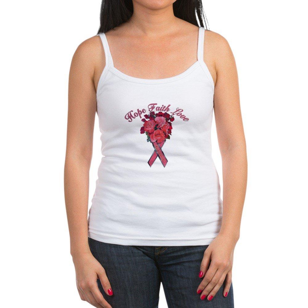 Spaghetti Tank Cancer Pink Ribbon Survivor Hope Royal Lion Jr