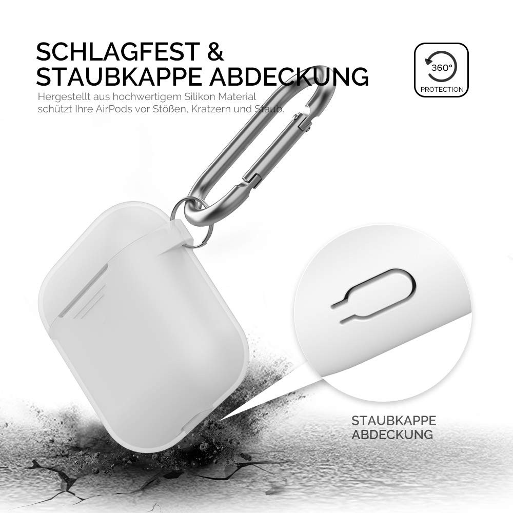Carcasa de Silicona para Apple AirPods 2 y 1 AhaStyle AirPods