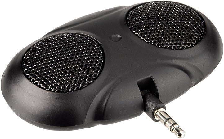 Gr/ün CamKpell Mini tragbarer Dual-Channel-Mono-Lautsprecher mit 3,5-mm-Klinkenanschluss Mini-Audio-Lautsprecher f/ür Mobiltelefone Tablet-Computer