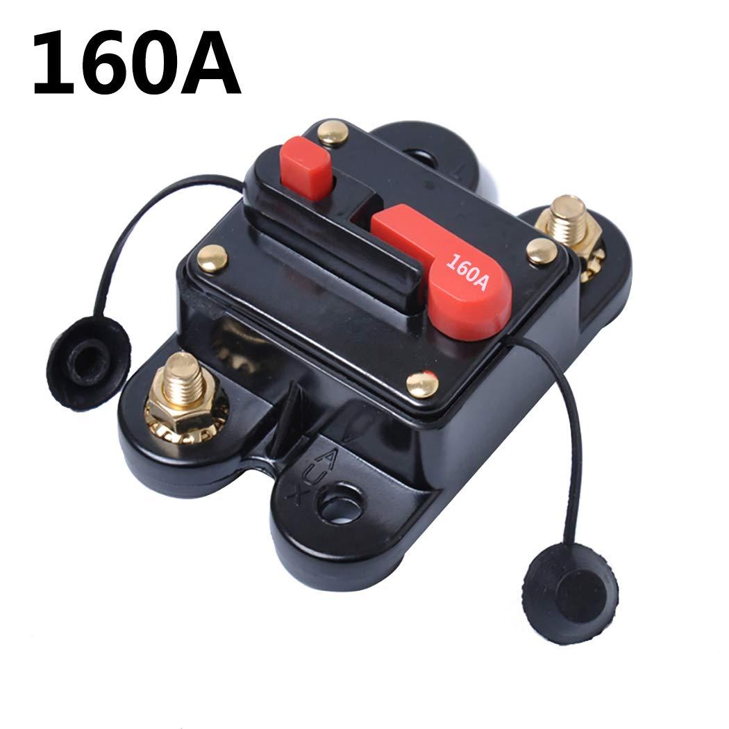 Fansport DC Leistungsschalter 70A 120A 160A 180A 200A Sicherungshalter Inline Leistungsschalter fü r Audio Car
