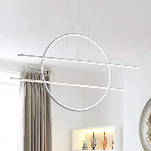 Royal Pearl Modern LED Pendant Lighting Dimmable Ring and Linears Chandelier Ceiling Light
