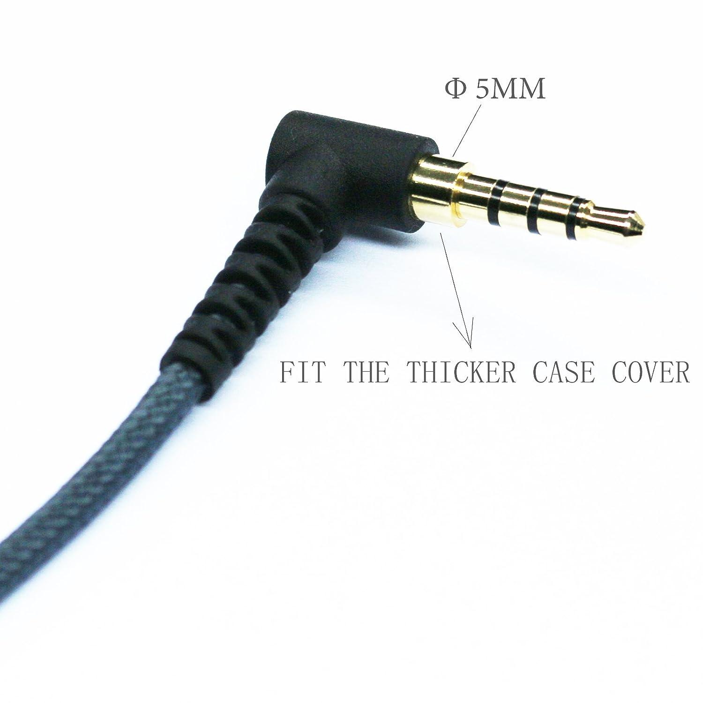 Filo dacqua intrecciato -Cavo adattatore per auricolari con cavo antigroviglio 8 ad angolo retto 4 poli 1//20,32 cm maschio a 4 poli 3,5 mm Audio Stereo femmina 20,32 cm KetDirect 20//50//100//200//300//150 cm 3,5 mm 8
