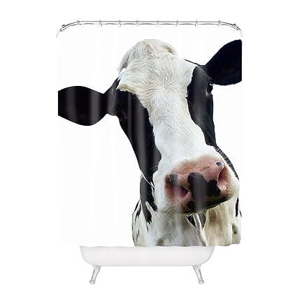 amazon com yeho art gallery bath curtain with funny cow head