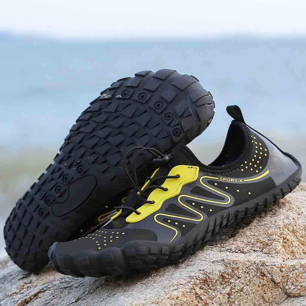 Sinma Unisex Quick-Dry Water Shoes Pool Beach Swim Drawstring Shoes Barefoot Aqua Socks Swim Shoes for Pool Beach Walking Running