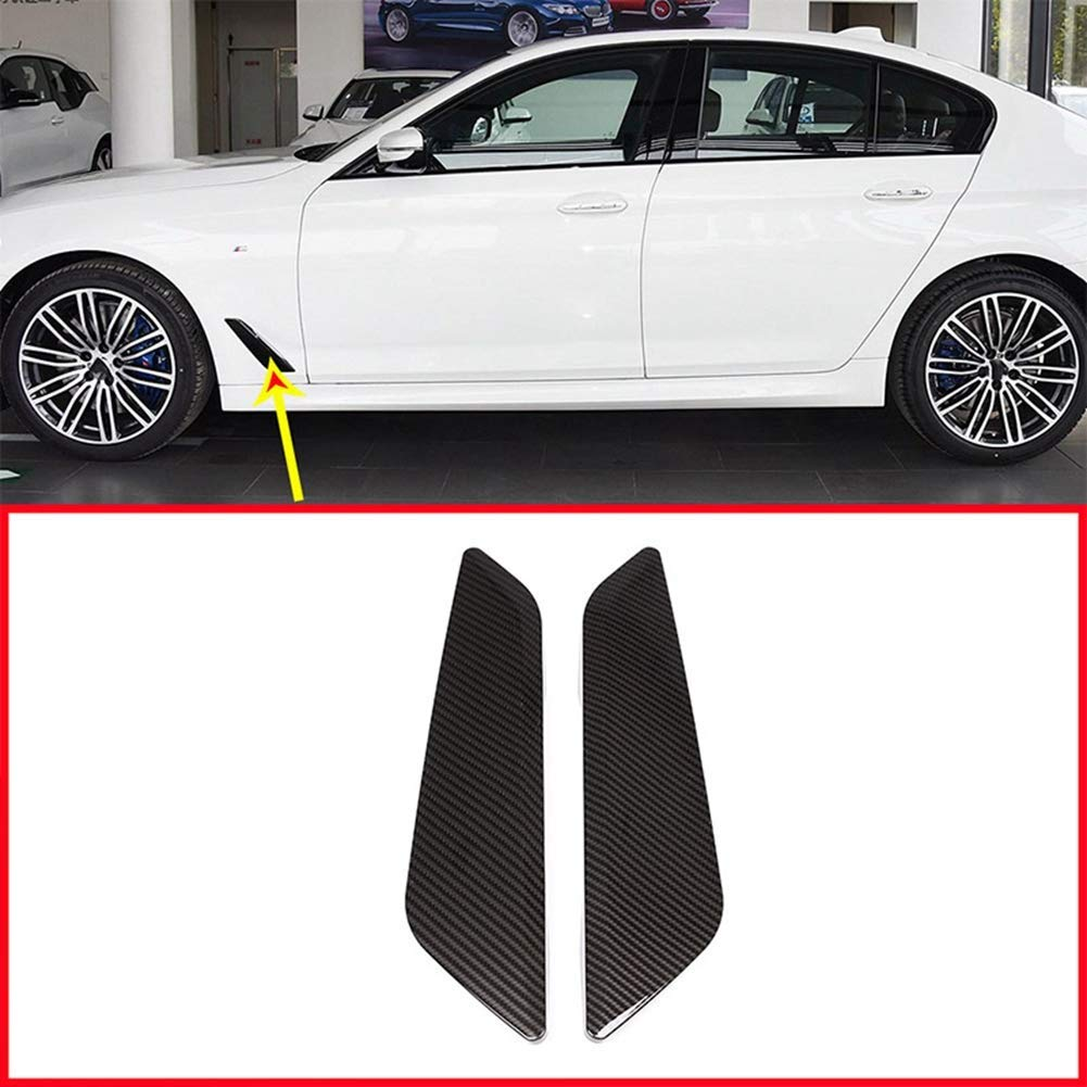 AUTO Pro for BMW New 5 Series G30 2017 2018 ABS Plastic Car Fender Vent Decorative Cover Trim Sticker Accessories Carbon Fiber Style