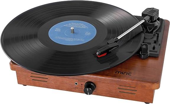 miric tourne disque vinyle avec 2 enceintes integrees portable 3 vitesses pour disques vinyles de 7 10 12 tourne disque retro a courroie