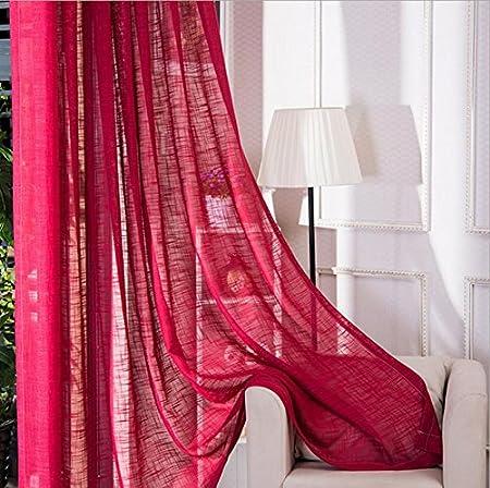 Blue Crossbar Crossbar Cortina Living Room Bedroom Permanent Voile ...
