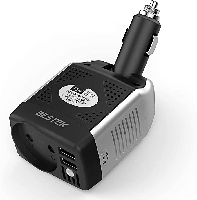 Bestek Spannungswandler 12v Auf 230v Auto Usb Ladegerät 75w Kfz Steckdosen Wechselrichter 12 230 Für Iphone Ipad Auto