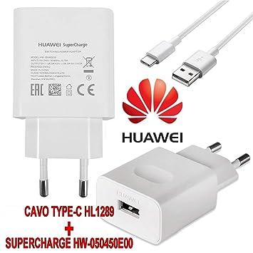 Huawei Cargador de Red USB Original Hw-05450E00 Supercharge