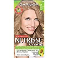 Garnier Nutrisse Cream Hair Color in 81 Medium Ash Blonde. Grey Hair Cover Up, Hair Dye with Natural Conditioning Oils