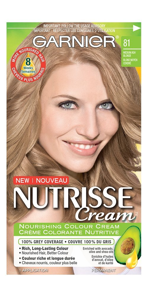 Garnier Nutrisse Cream Hair Color in 42 Dark Golden Brown. Grey Hair Cover Up, Hair Dye with Natural Conditioning Oils