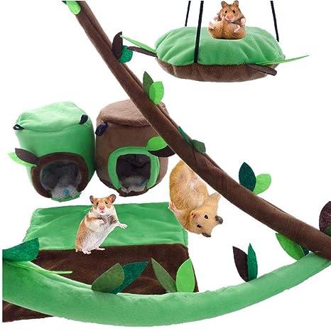 Funihut Juego de 6 pequeños Animales de hámster Hamaca de Animales ...