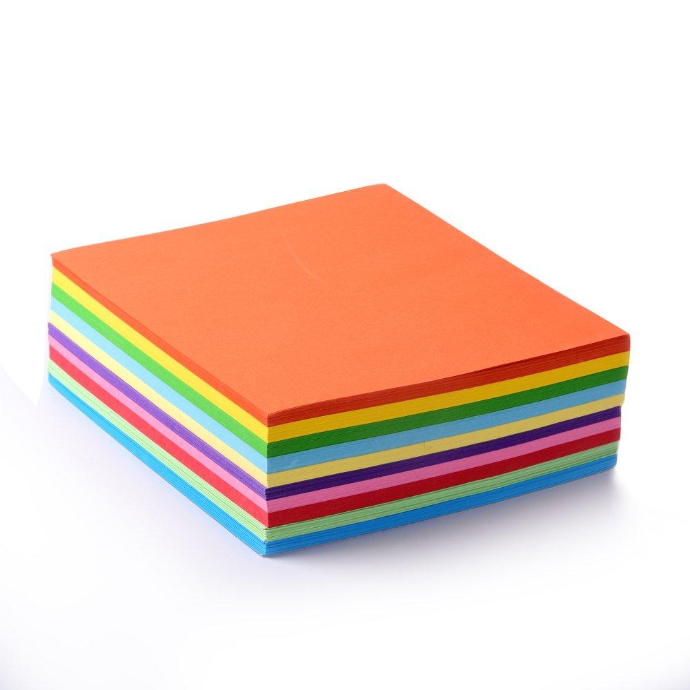 faltpapier, 500fogli 15x 15cm, 70G/MQ 10colori–Disegno Alta Qualità Foglie pieghevole per origami e progetti creativi 500 Blatt EAST-WEST Trading GmbH
