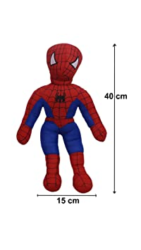 Aarushi Stuffed Soft Spiderman Figure Toy for Kids Multicolour