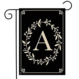 "Briarwood Lane Classic Monogram Letter A Garden Flag Everyday 12.5"" x 18"""