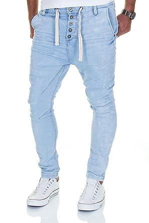 e12e1b849fff Jogg Jeans Herren Hose Urban Surface Joggjeans Denim Slim Fit Chino  Sweatpants Jogger Sweathose (W33