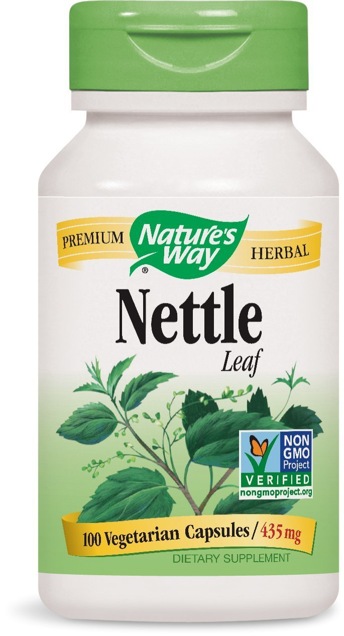 Nature's Way Nettle Leaf; 435 mg per serving; TRU-ID Certified; Non-GMO Project; Vegetarian; 100 Vegetarian Capsules