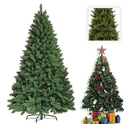 B&F Arbre, pin, de Noël artificiel haut de gamme, vert, avec aiguilles  d\'épicéa et un support métallique ((210 cm/2,1 m) - 1 000 aiguilles)