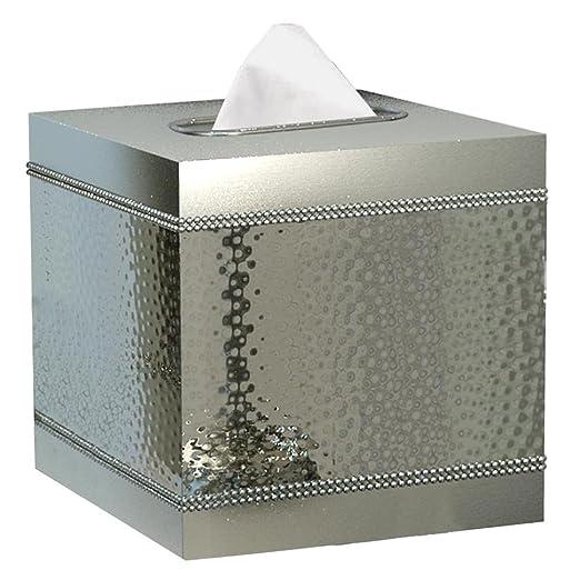 Nu Acero Hudson Boutique Caja de pañuelos Holder: Amazon.es: Hogar