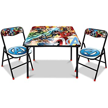 Amazon.com: Marvel Avengers Juego de mesa cuadrada y silla ...