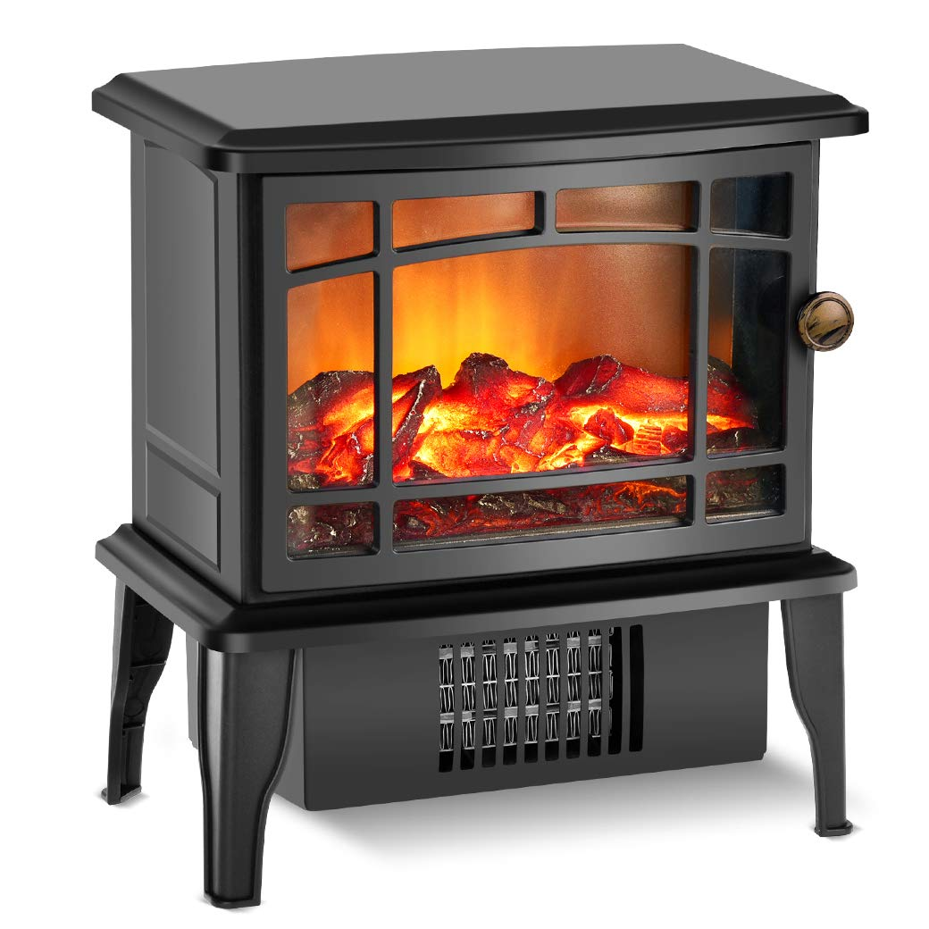 Fireplace Heater – Electric Fireplace Heater with 3s Fast Heating System, 500W Portable Fireplace Heaters for Indoor Use, Quartz Fireplace Heaters with Overheat Tip-Over Protection for bedroom