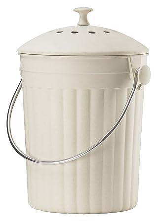 Amazon.de: Küche Kompost Mülleimer - 4, 5 l creme Umweltfreundlich ...