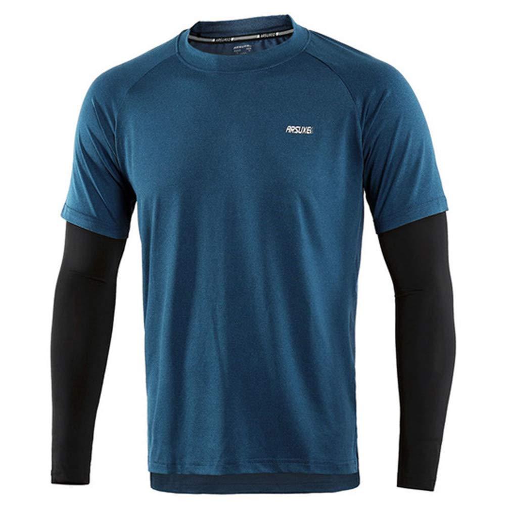 Herren Frühling Herbst Running Hemden Quick Dry Fit Compression Sport Langarm-Shirt Elastic Fitness Kleidung