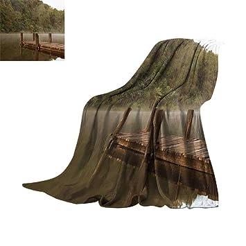 Amazon.com: RamonDecorFH Paisaje, mantas personalizadas ...