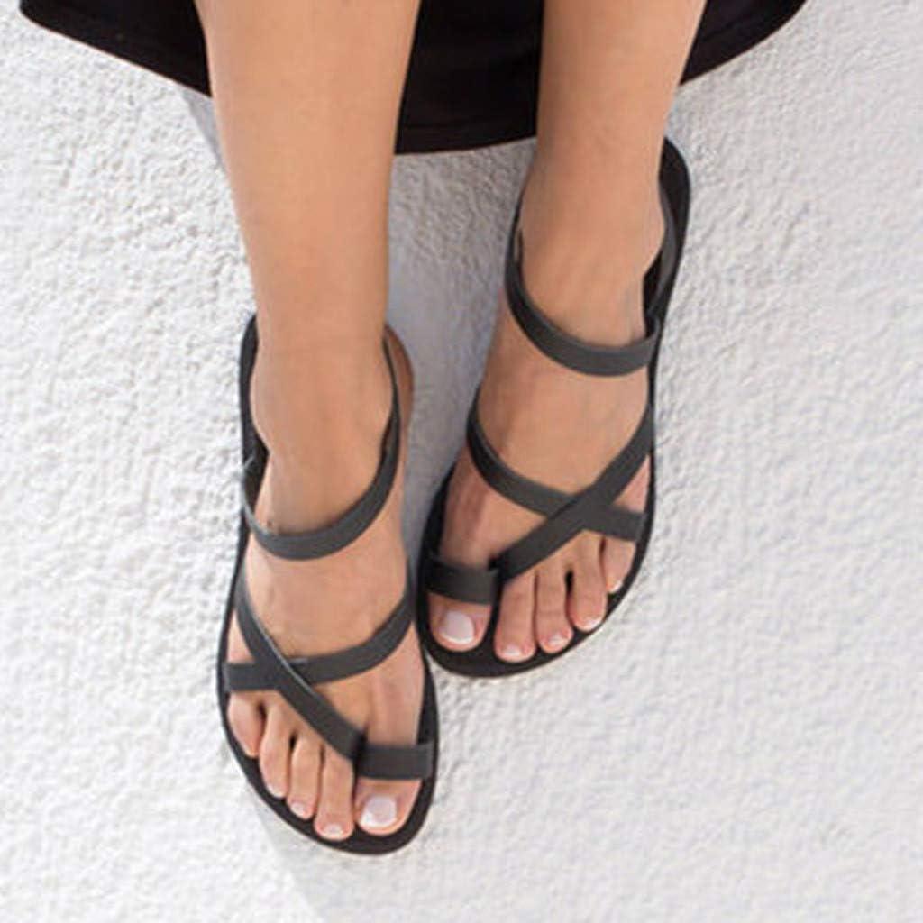 Sandals for Womens Flip Flops Flat Cross Open Toe Comfortable Slip-On Beach Shoe