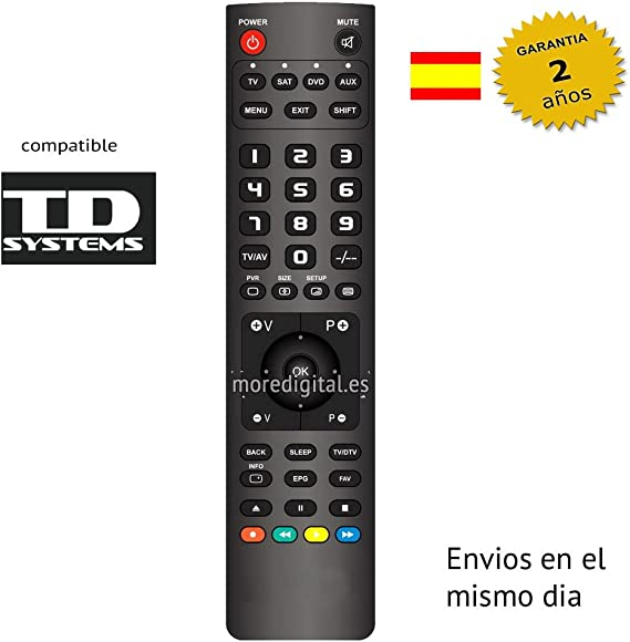 Mando a Distancia Especifico para Television TV TD SYSTEMS: Amazon.es: Electrónica