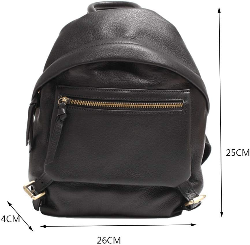 Climb Backpack Backpack Womens Black Leather British College Wind Casual Leather Shell Small Backpack Travel Bag
