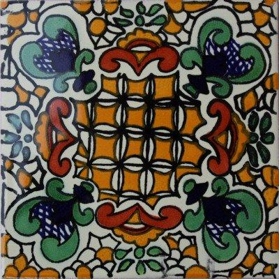 Amazon.com: 2 x 2 36 piezas Brozas Talavera mexicana azulejo ...